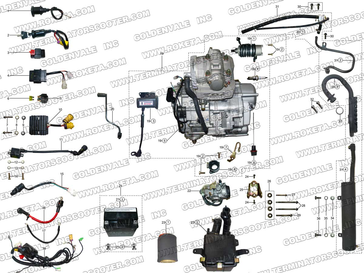 150cc quad bike wiring diagram mains smoke alarm roketa 250cc atv parts free engine image