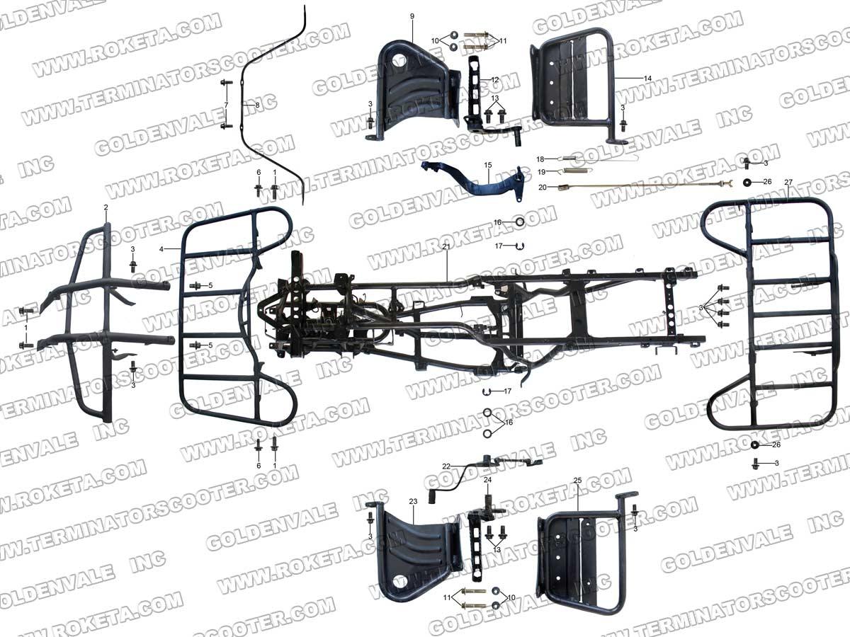 ROKETA ATV-11 FRAME PARTS