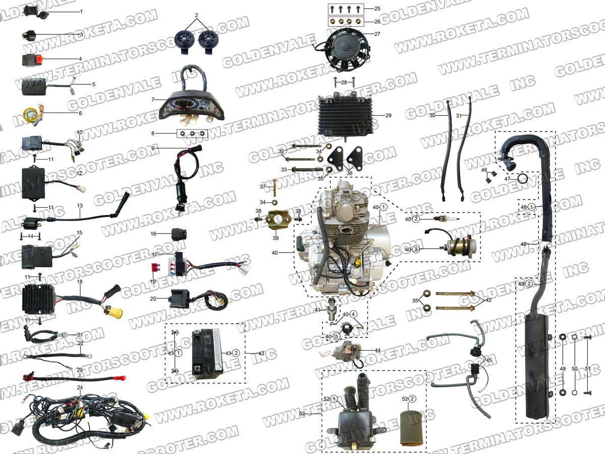 Roketa Atv Parts Diagram : 24 Wiring Diagram Images