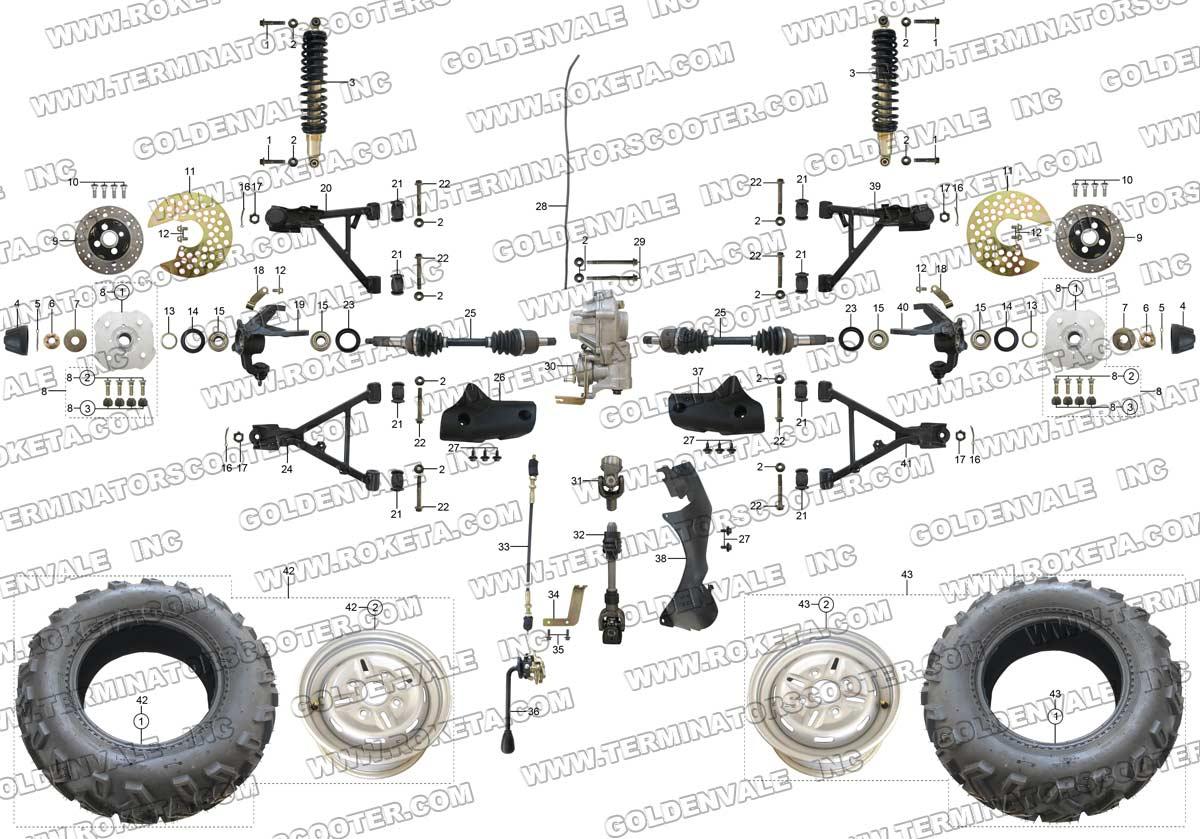Yamaha Linhai 260cc Atv Wiring Diagram Linhai ATV Parts