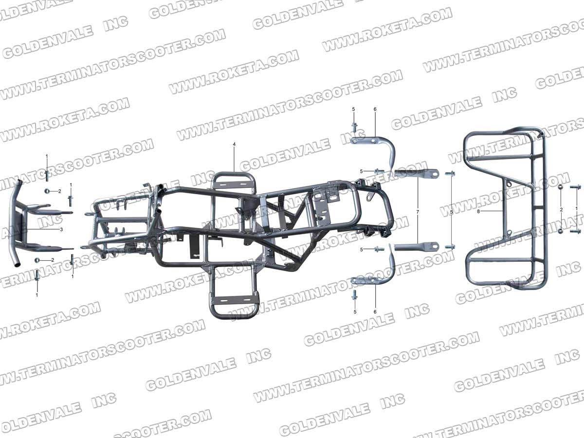 ROKETA ATV-20AR FRAME PARTS