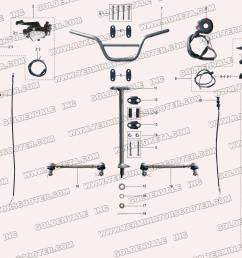 roketa atv 20ar steering assembly parts chinese blizzard four wheeler wiring diagram 20ar atv wiring diagram [ 1200 x 900 Pixel ]