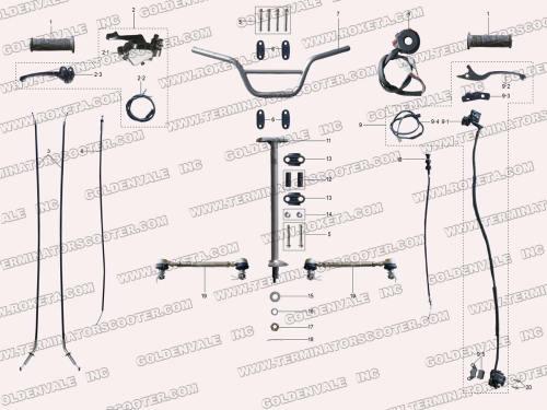 small resolution of roketa atv 20ar steering assembly parts chinese blizzard four wheeler wiring diagram 20ar atv wiring diagram