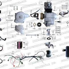Loncin 110cc Atv Wiring Diagram Drayton Zone Valve Roketa Atv-32 Engine, And Exhaust Parts