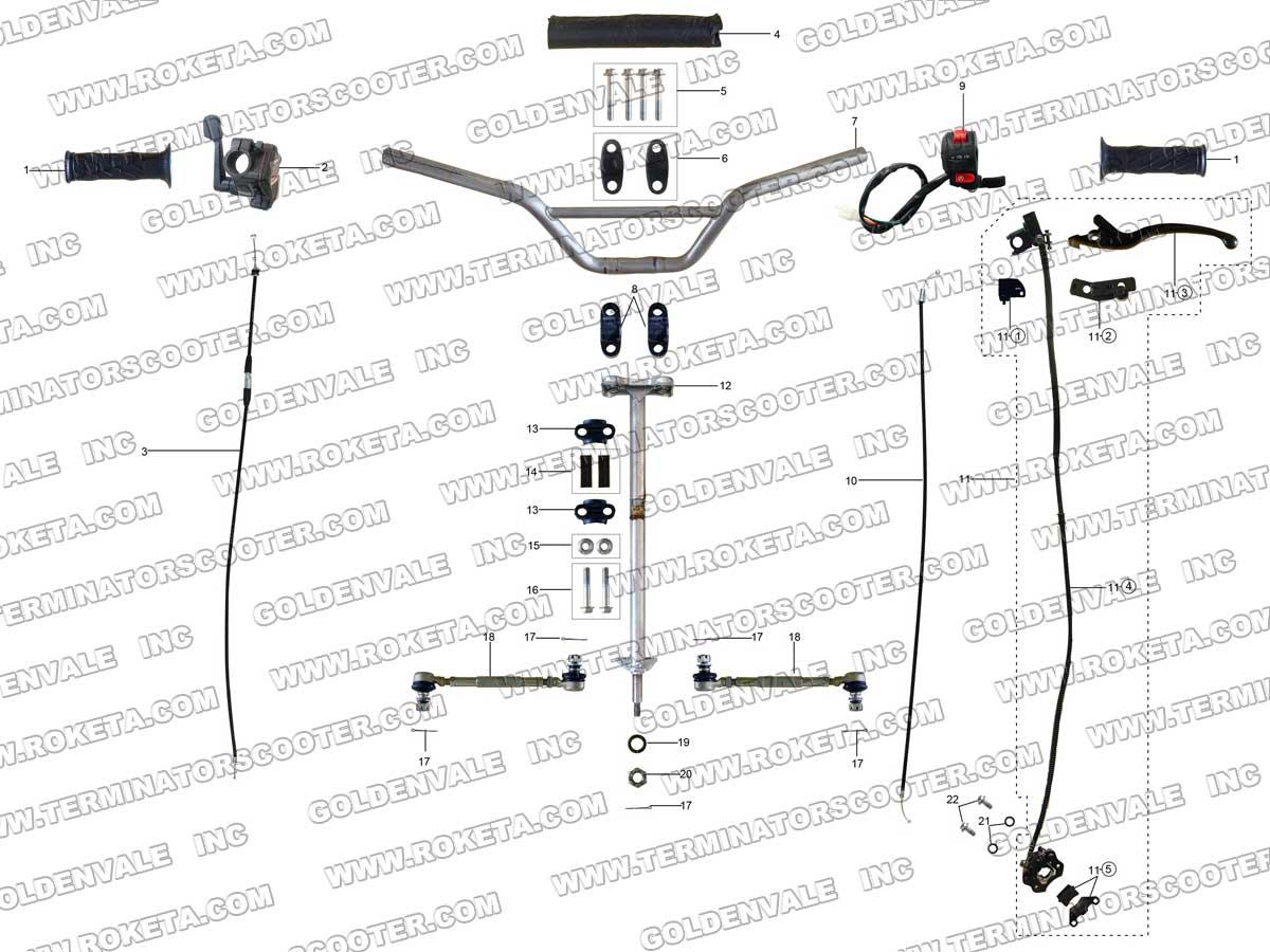 roketa 90cc go kart wiring diagram