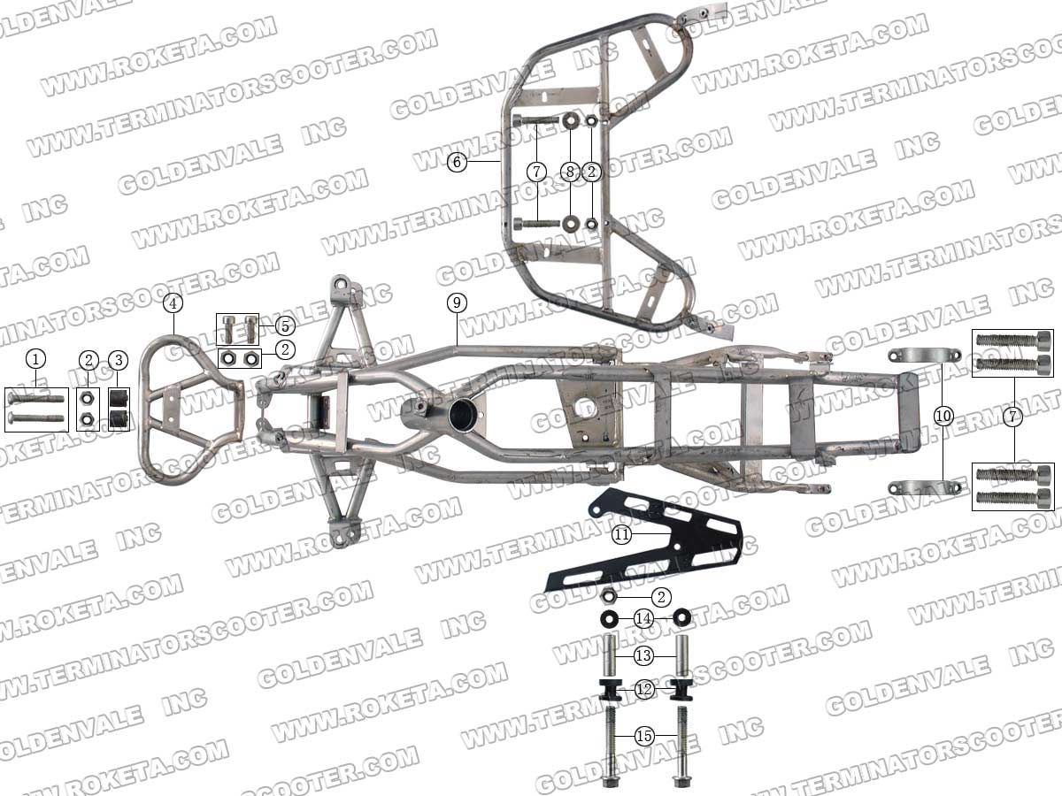 Roketa Atv 38 Frame Parts