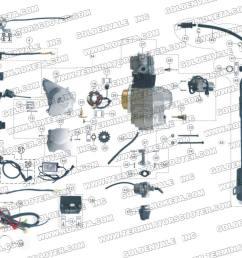 atv59 engine wiring and exhaust parts roketa parts department [ 1200 x 900 Pixel ]