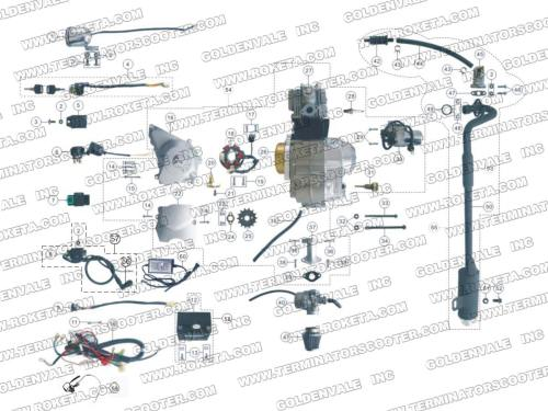 small resolution of atv59 engine wiring and exhaust parts roketa parts department