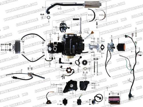 small resolution of roketa atv 67 engine wiring and exhaust parts st roketa parts department 50cc roketa scooter wiring diagram trusted diagrams go kart