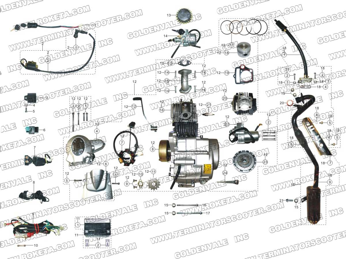 Roketa 110cc Atv Wiring Diagram