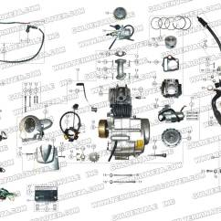 110cc Atv Engine Diagram Mk4 Wiring Roketa 70 And Exhaust Parts