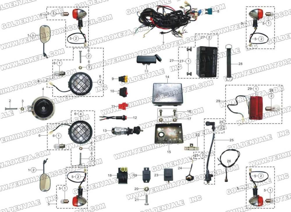 medium resolution of roketa gk 01 electrical parts roketa gk 01 wiring harness