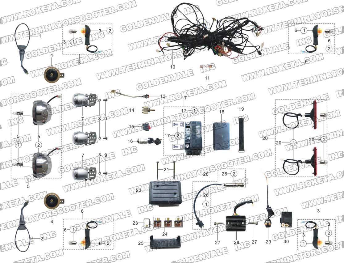 ROKETA GK-06 ELECTRICAL PARTS
