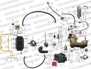 ROKETA GK06 ENGINE AND EXHAUST PARTS