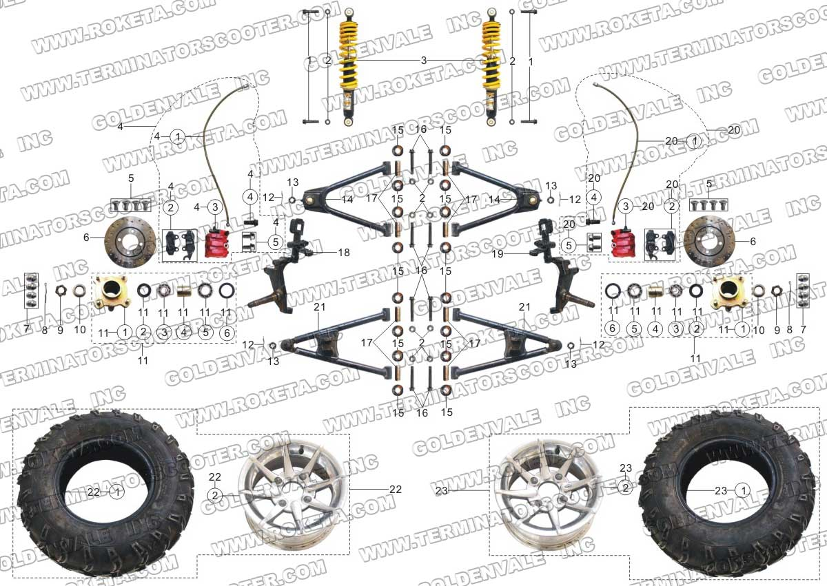 Wiring Diagram For Roketa Go Kart Engine. Parts. Wiring