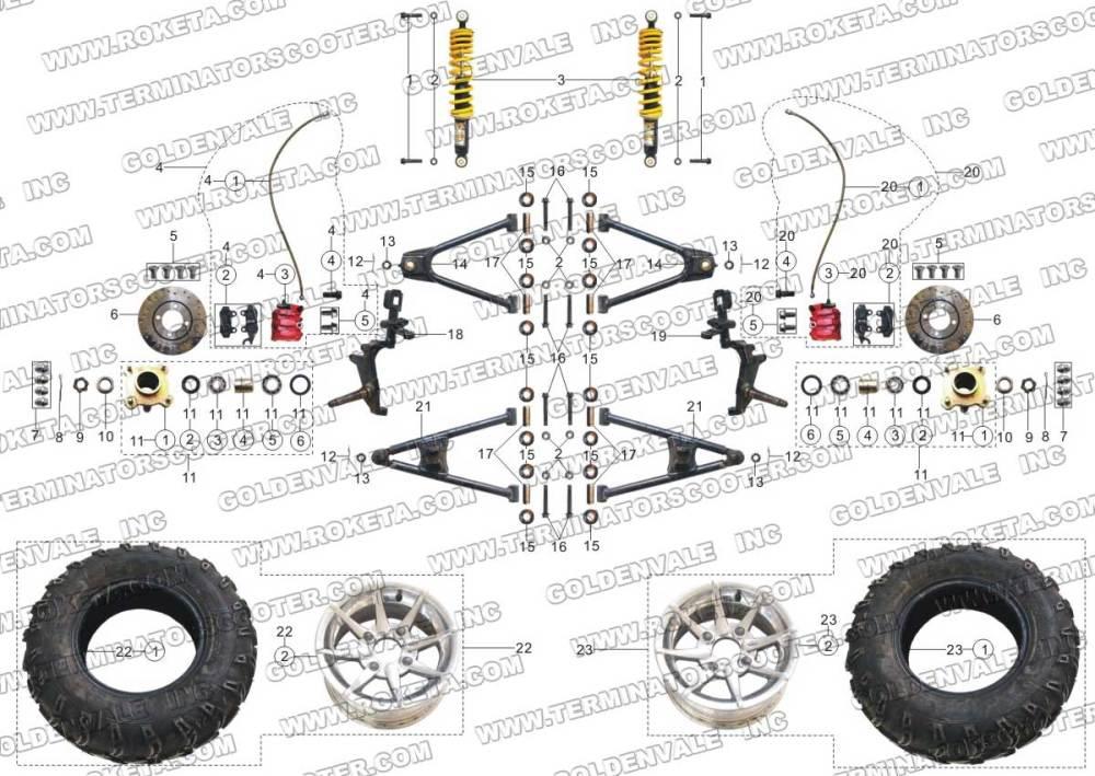 medium resolution of 250cc roketa buggy