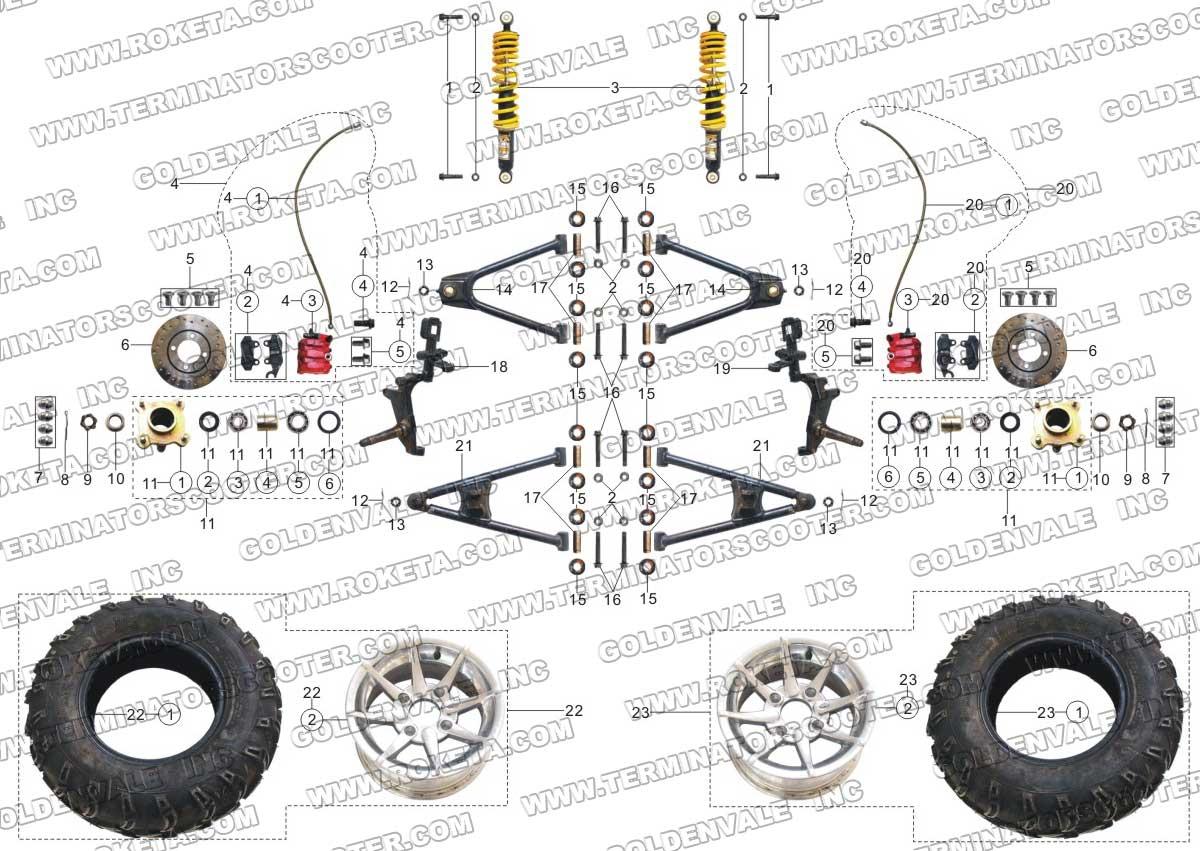 hight resolution of 250cc roketa buggy