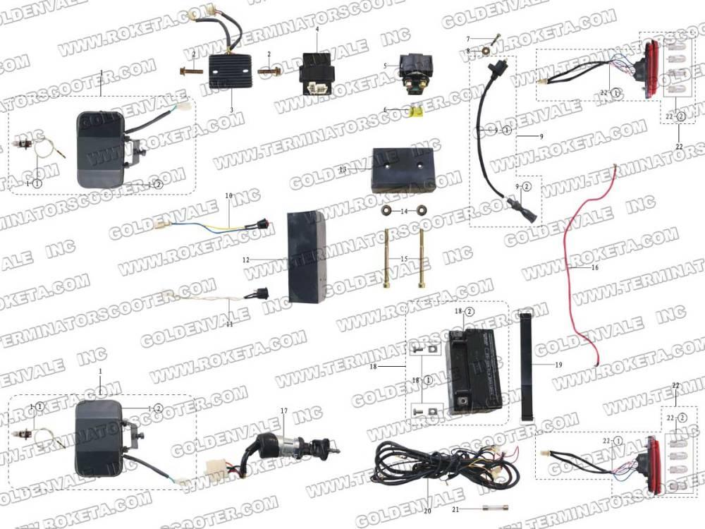 medium resolution of roketa wiring harness wiring diagram operations roketa gk 01 wiring harness