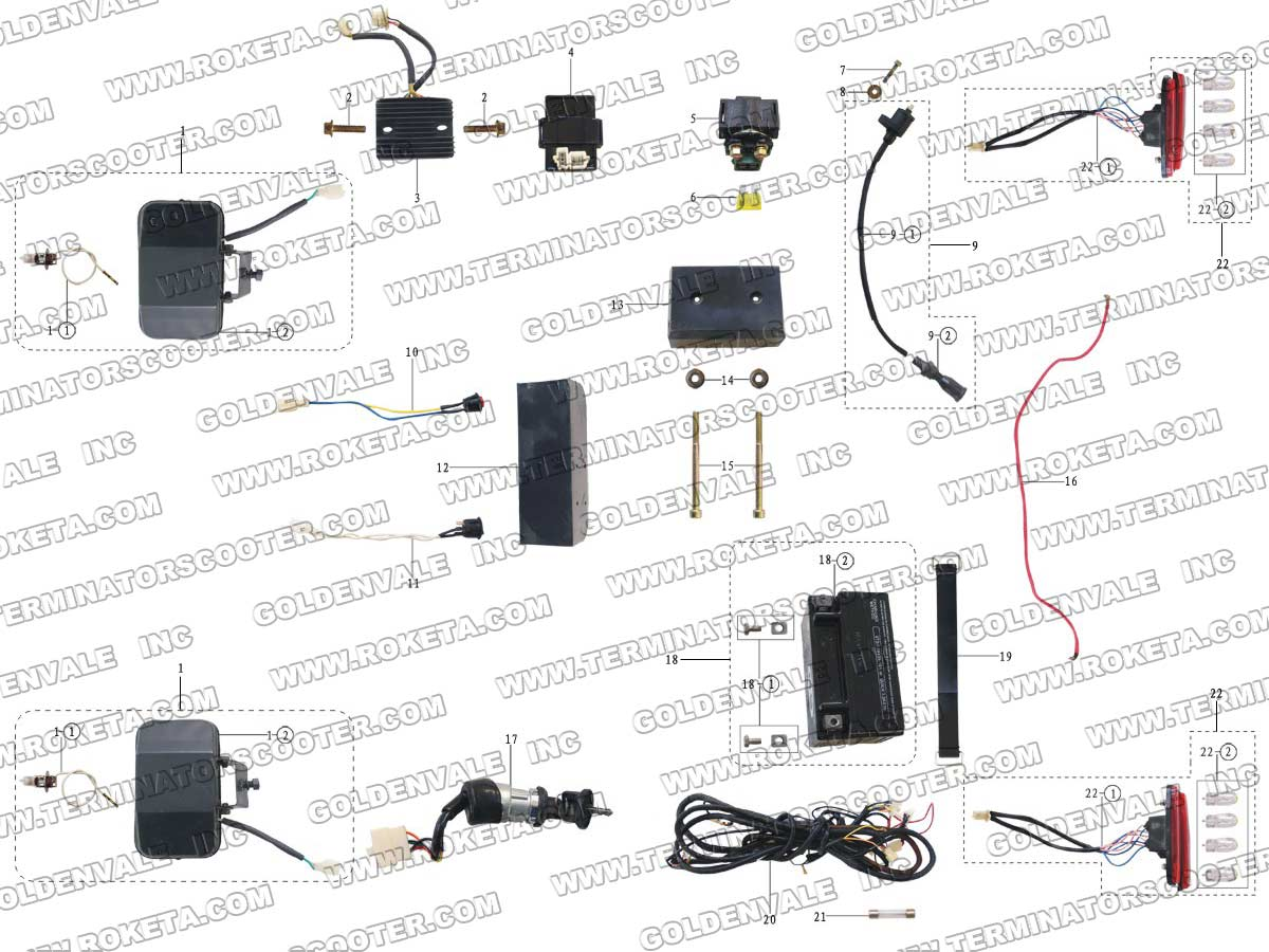 hight resolution of roketa wiring harness wiring diagram operations roketa gk 01 wiring harness
