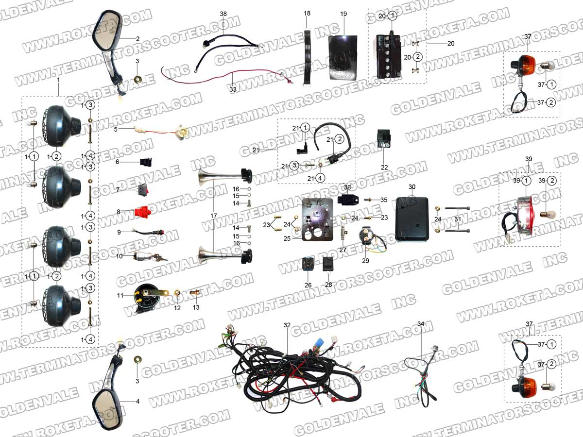 Roketa Gk 28 Electrical Parts