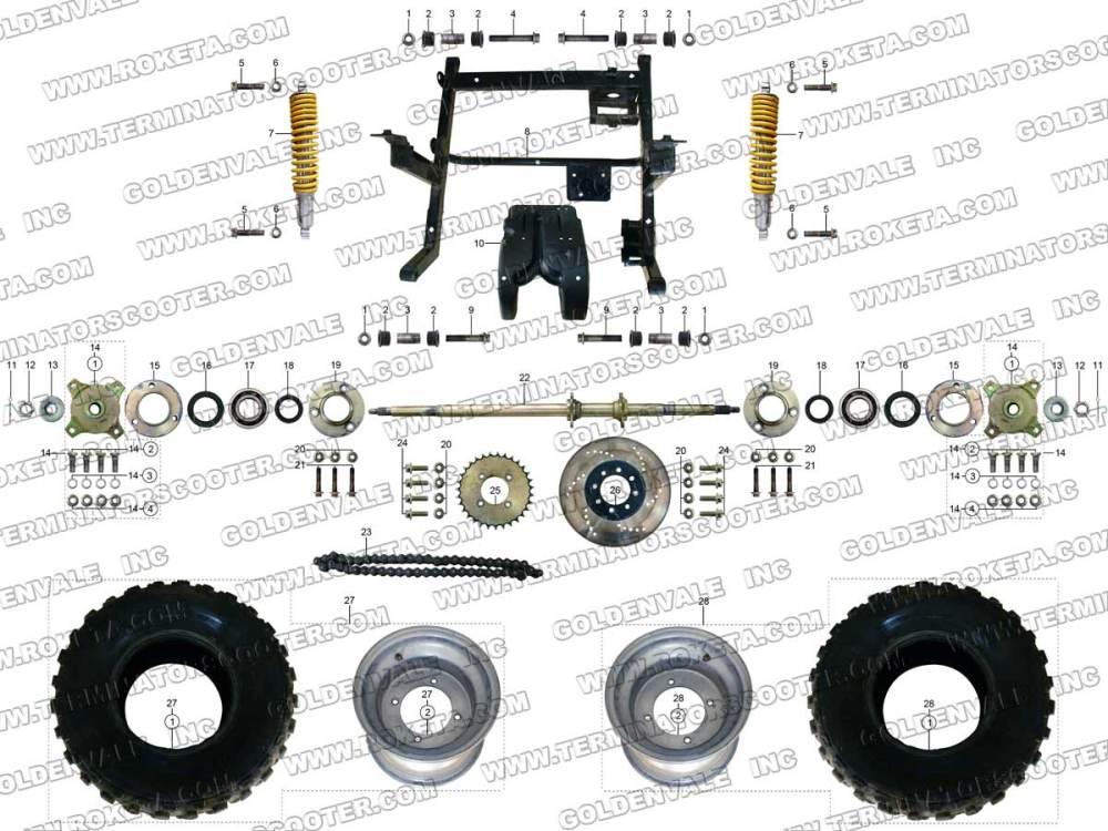 medium resolution of roketa gk 28 rear wheel assembly parts rh roketapartsdept com 250cc go kart wiring diagram