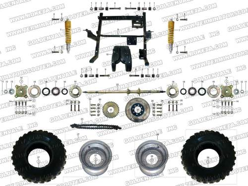 small resolution of roketa gk 28 rear wheel assembly parts rh roketapartsdept com 250cc go kart wiring diagram