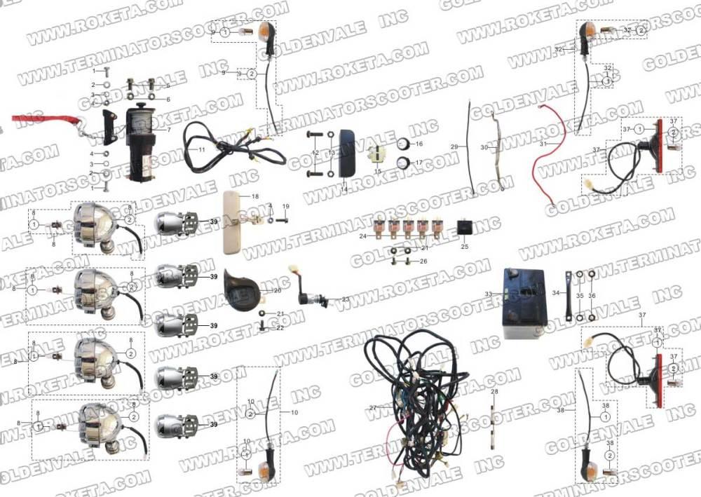 medium resolution of roketa wiring diagram wiring diagramroketa gk 32 electrical partsroketa wiring diagram 9