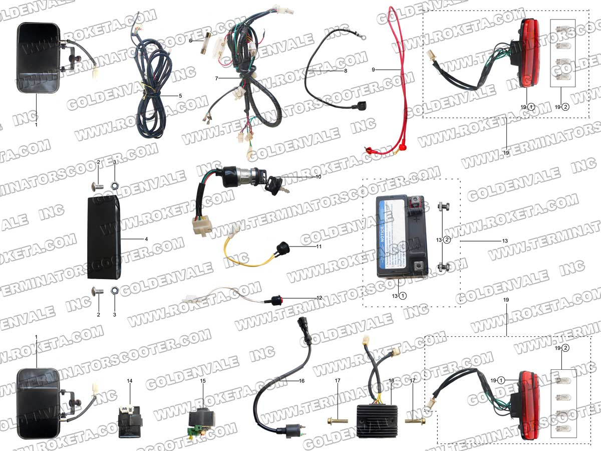 ROKETA GK-39 ELECTRICAL PARTS