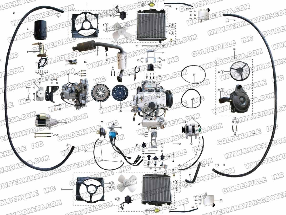 hight resolution of roketum 800cc engine wiring diagram