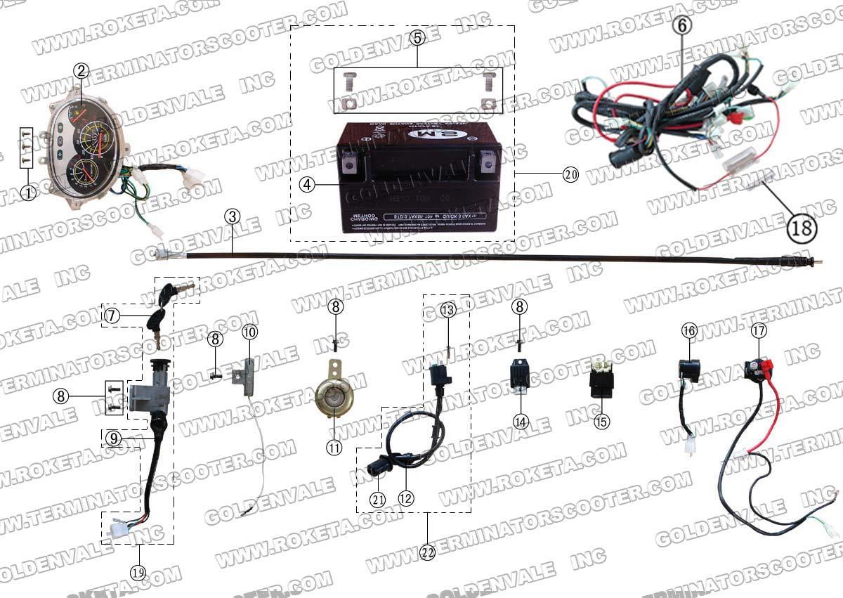ROKETA MC-07 ELECTRICAL PARTS