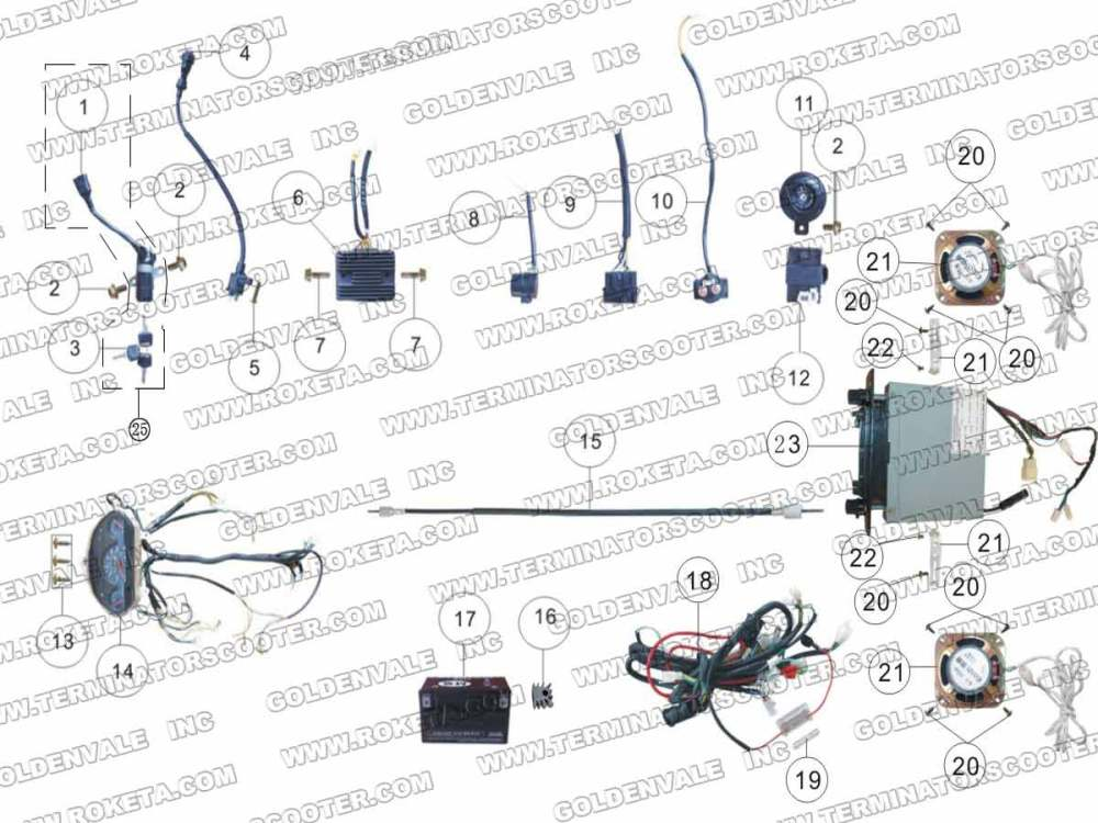 medium resolution of roketum maui 50 wiring diagram