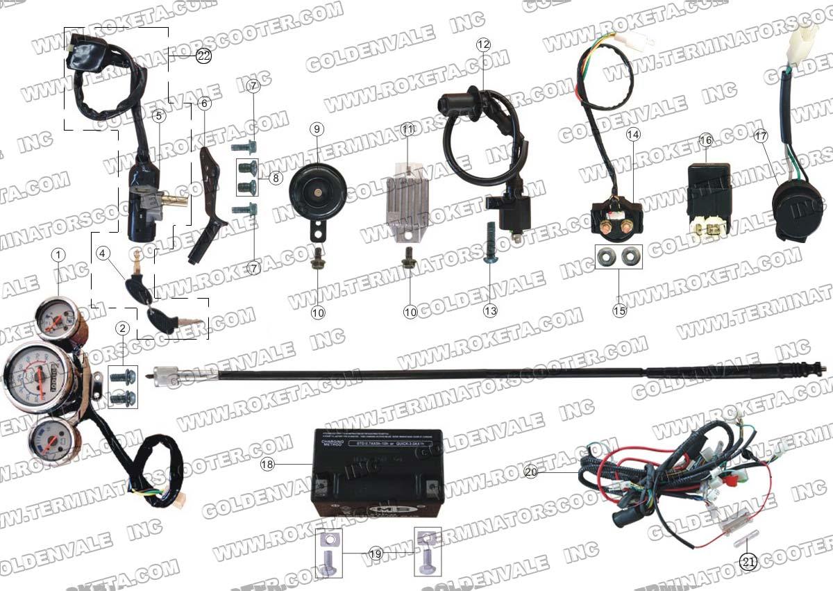 ROKETA MC-16-150 ELECTRICAL PARTS