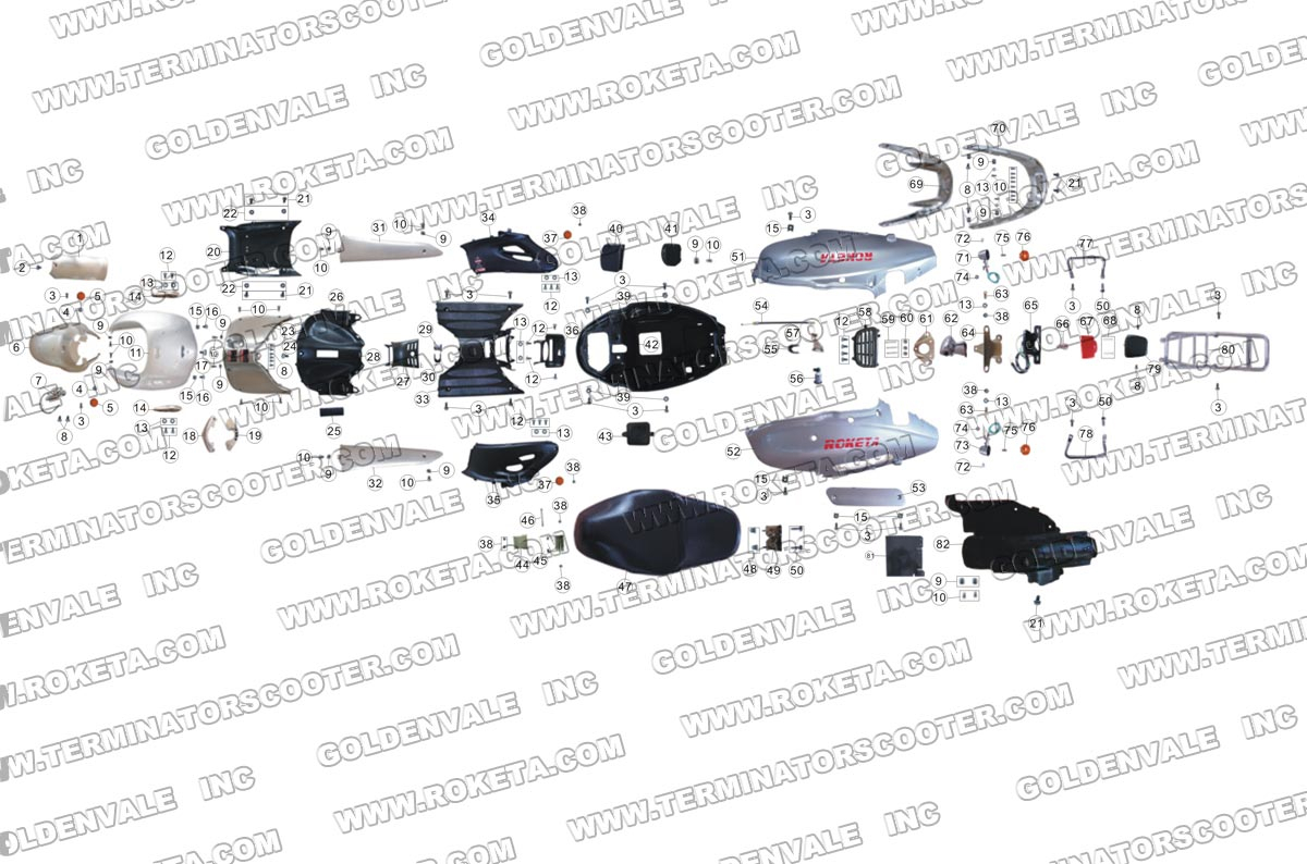 ROKETA MC-16-150 BODY PARTS