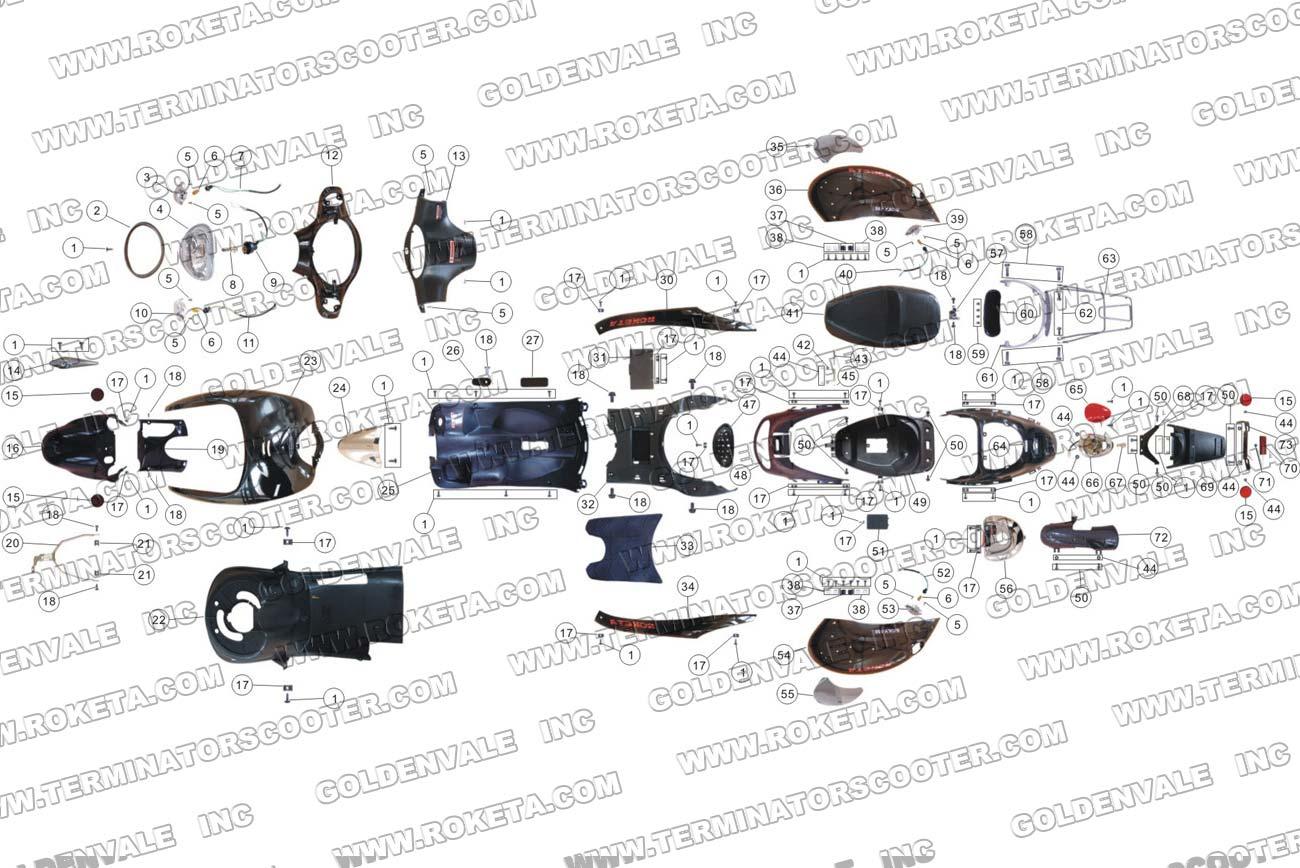 Roketa Mc 17 150 Body Parts