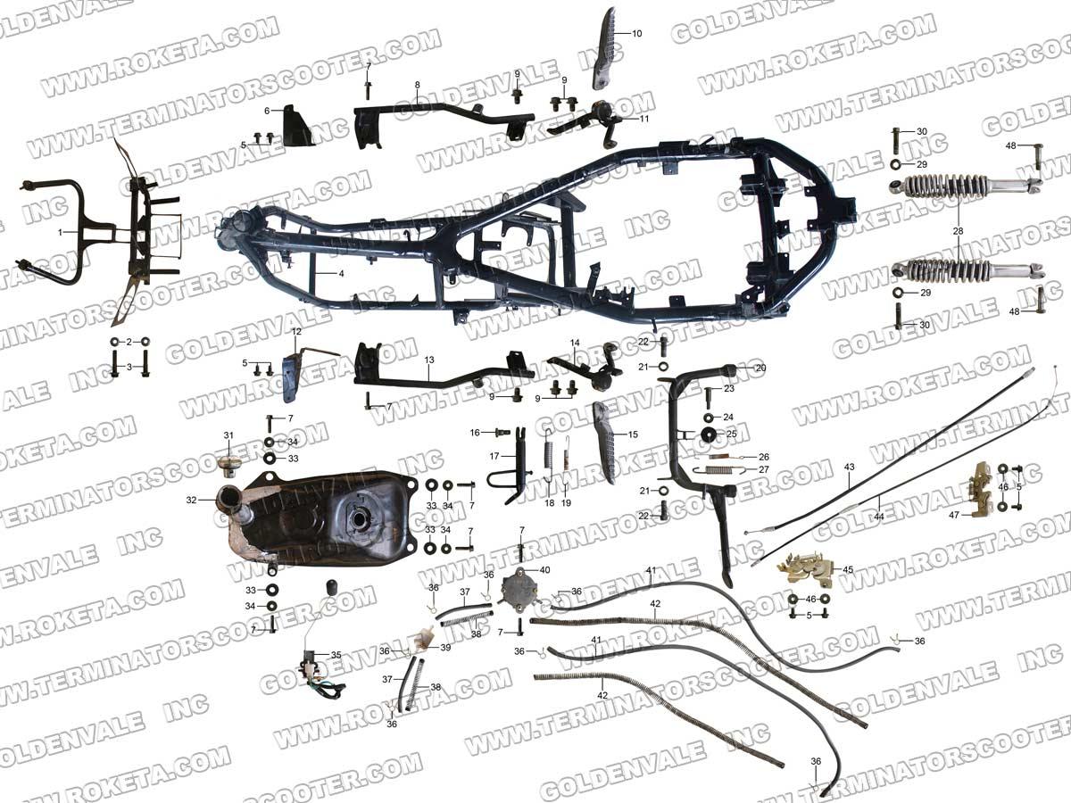 Roketa Mc 54b Wiring Diagram Free For You Scooter Schematic Data Schema Rh 46 Danielmeidl De 50 Maserati