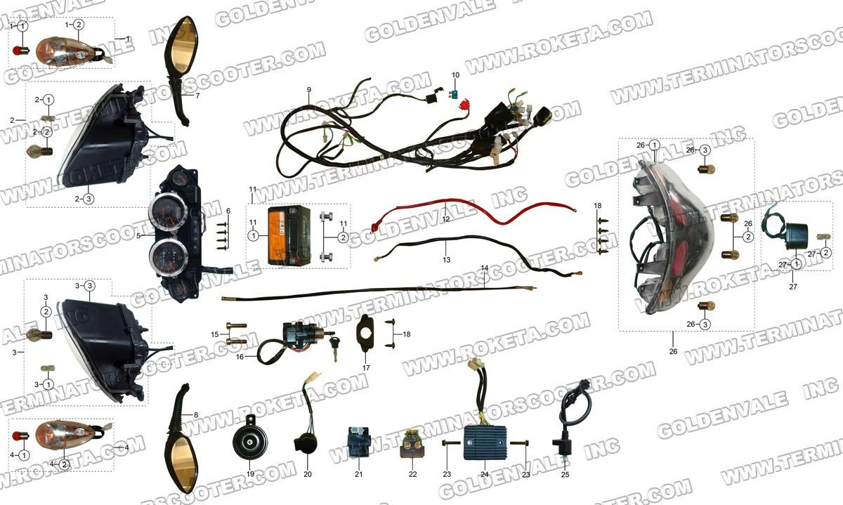 roketa 250cc go kart wiring diagram free picture