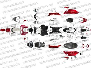 ROKETA MC54B250 BODY PARTS