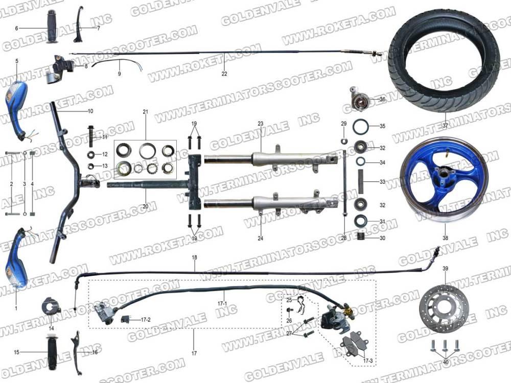 medium resolution of terminator pocket bike wire diagram