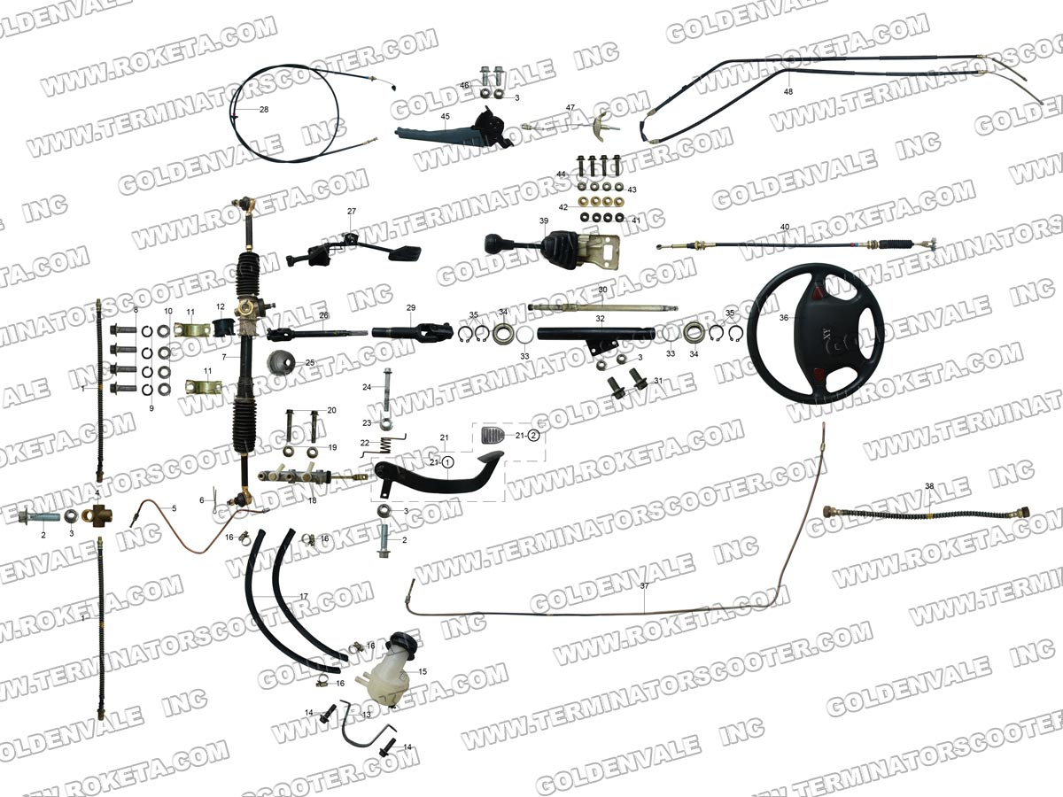 Roketa Uv 09 Steering Assembly Parts