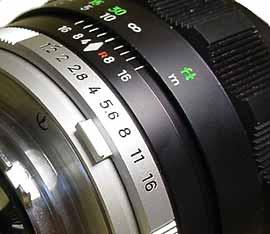 minolta 58mm lens