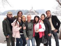 Novinari na okupu na Bledu