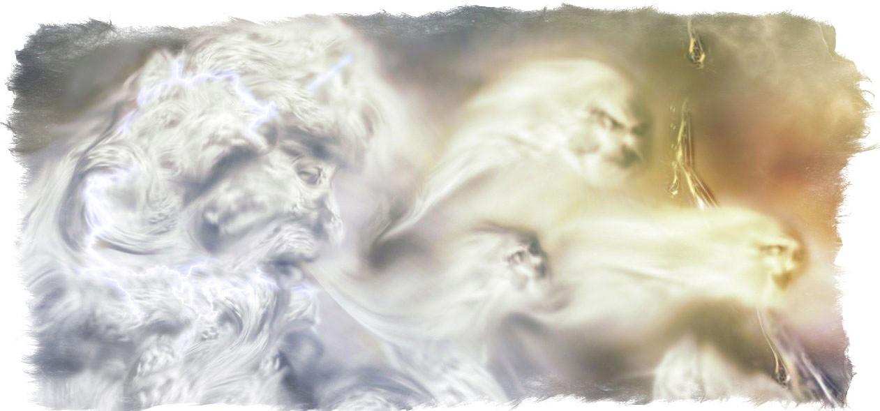 On na krilima donosi boginju proleća Vesnu: Stribog duva u rog i budi vetrove, svoje unuke