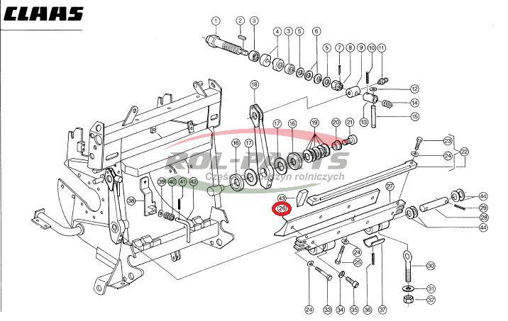 LISTWA WALCA GŁADKIEGO JAG800 984705.1, 0009847051 Rol-Parts