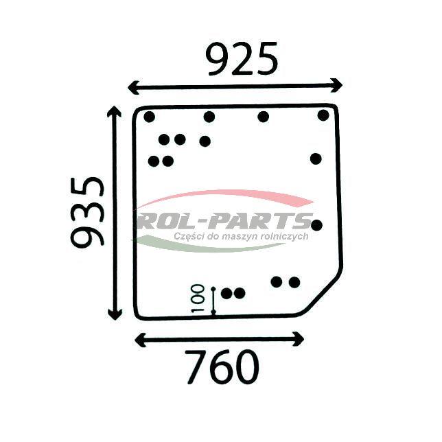 SZYBA TYLNA RENAULT ARES 7700072361 Rol-Parts