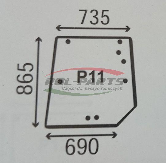 SZYBA TYLNA MASSEY FERGUSON 6000/8000 3902141M1 Rol-Parts