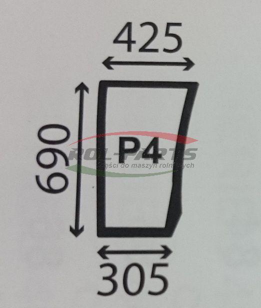 SZYBA PRZEDNIA DOLNA PRAWA DEUTZ AGROTRON K 0.012.1434.0
