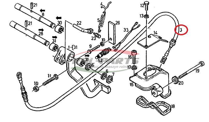 LINKA SPRZ. DEUTZ L-720/380/M16, 04378314 04350254 Rol-Parts