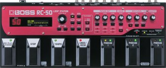 Red and black BOSS Loop Station RC-50