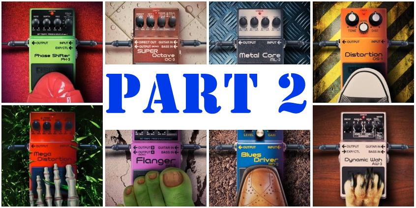 BOSS effect pedals part two marque image