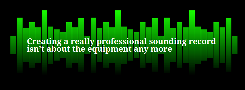 Recording Tips blog image with audio wave display